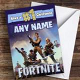 Fortnite Number 1 Christmas Customised Children's Christmas Card