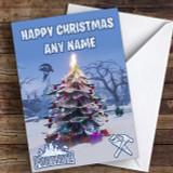 Fortnite Christmas Tree Customised Children's Christmas Card