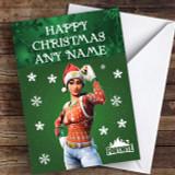 Fortnite Nog Ops Green Customised Children's Christmas Card