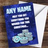 Fortnite Vbucks Funny Customised Children's Christmas Card