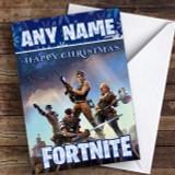 Fortnite Game Purple Customised Children's Christmas Card