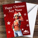 Red Fortnite Game Customised Children's Christmas Card