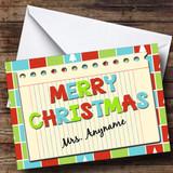 Notebook Teacher Customised Christmas Card
