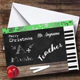 Music Teacher Customised Christmas Card