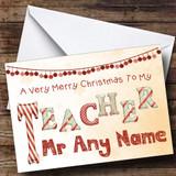 Merry Xmas To My Teacher Customised Christmas Card
