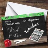 Maths Teacher Customised Christmas Card