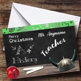 History Teacher Customised Christmas Card