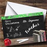 English Teacher Customised Christmas Card