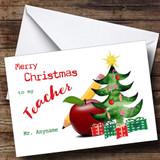 Apple Teacher Customised Christmas Card