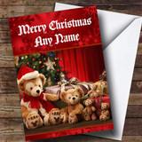 Adorable Christmas Teddy Bears Customised Christmas Card