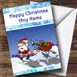 Funny Santa And Donkey Christmas Card Customised