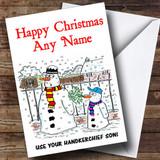 Funny Joke Snowman Christmas Card Customised