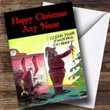 Funny Joke Santa Christmas Card Customised