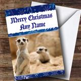 Funny Meerkat Customised Christmas Card