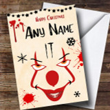 It Pennywise Clown Customised Christmas Card