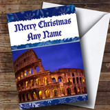 Rome Italy Customised Christmas Card