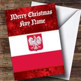Polish Flag / Poland Customised Christmas Card