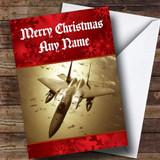 Plane Customised Christmas Card