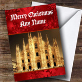 Milan Italy Customised Christmas Card