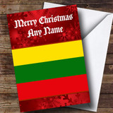 Lithuanian Flag / Lithuania Customised Christmas Card