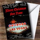 Las Vegas America Customised Christmas Card