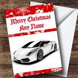 Lamborghini Gallardo Customised Christmas Card