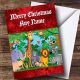 Animal Jungle Customised Christmas Card