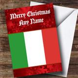Italian Flag / Italy Customised Christmas Card