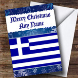 Greek Flag / Greece Customised Christmas Card