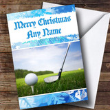 Golf Customised Christmas Card
