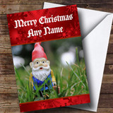 Garden Gnome Customised Christmas Card