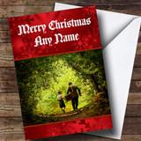 Sweet Fishing Customised Christmas Card