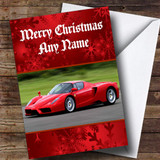 Ferrari Enzo Customised Christmas Card