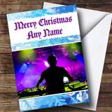 DJ Customised Christmas Card