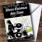 Cool DJ Customised Christmas Card