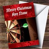 Dartboard Customised Christmas Card