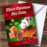Casino / Gambling Customised Christmas Card
