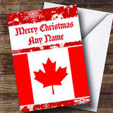Canadian Flag / Canada Customised Christmas Card