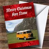 Campervan / Camping Customised Christmas Card