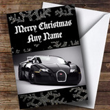 Black Bugatti Customised Christmas Card