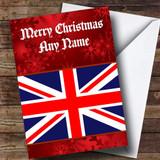 British Flag / Union Jack Customised Christmas Card