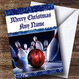 Bowling Customised Christmas Card
