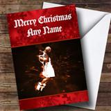 Basketball Slam Dunk Customised Christmas Card