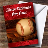 Baseball Customised Christmas Card