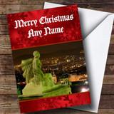 Barcelona Spain Customised Christmas Card