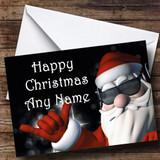Cool Santa Christmas Card Customised