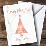 Rose Gold Marble Tree Customised Christmas Card