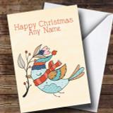 Autumn Bird Customised Christmas Card