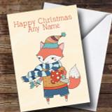 Autumn Fox Customised Christmas Card