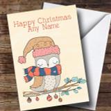 Autumn Owl Customised Christmas Card